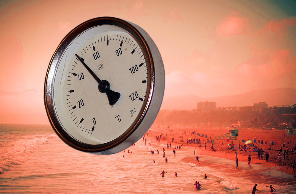 high-resolution photo of hand, clock, shape, climate change, hot day, global warming
