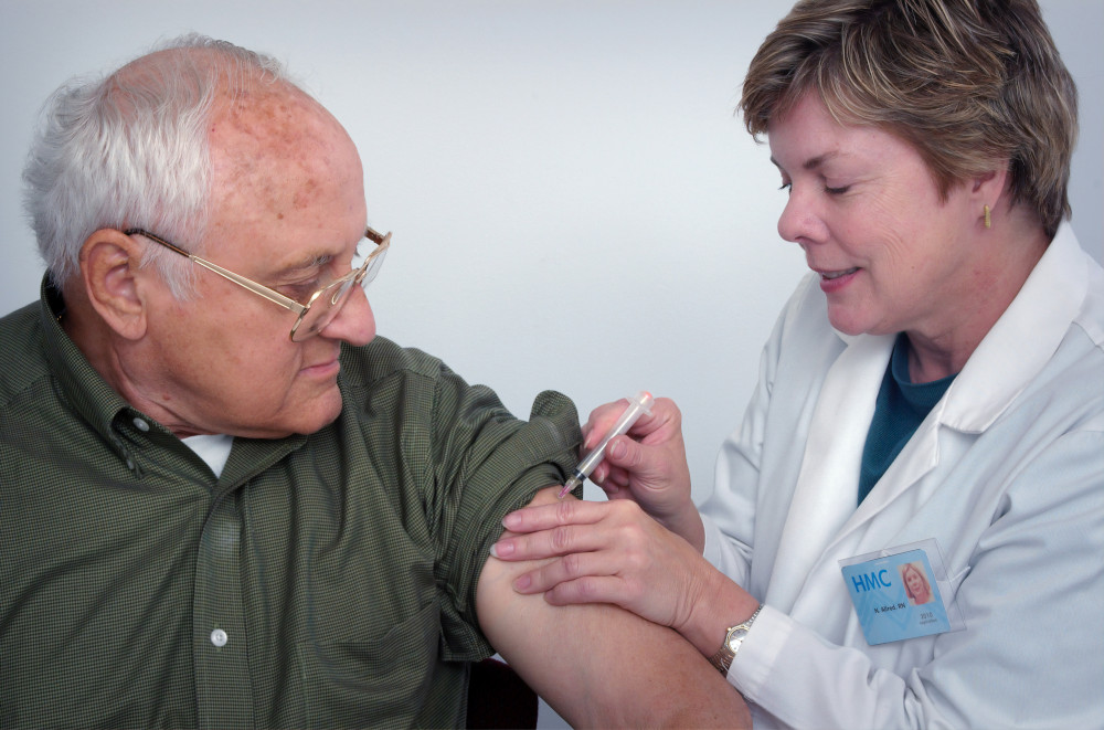 Image of vaccine being administered